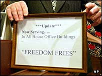 Freedom Fries -- this is what they're doing with my tax dollars?!
