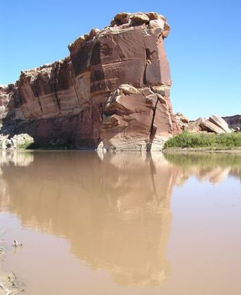 rock 43: reflection -- photo by Sienna, Green River, 26 September 2004