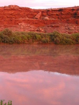 evening light -- photo by Sienna M Potts, Green River, Canyonlands, Utah, 23 September 2005