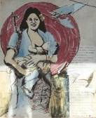 Mujer Liberada: wall mural in Leon, Nicaragua -- click for my picture story of 8 weeks in Nicaragua studying Spanish